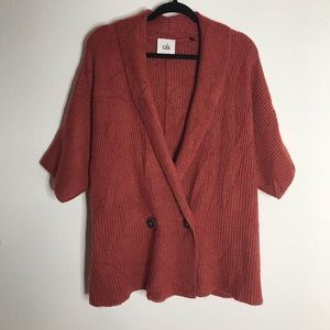 CAbi Short Sleeve Knit Cardigan Sweater Small